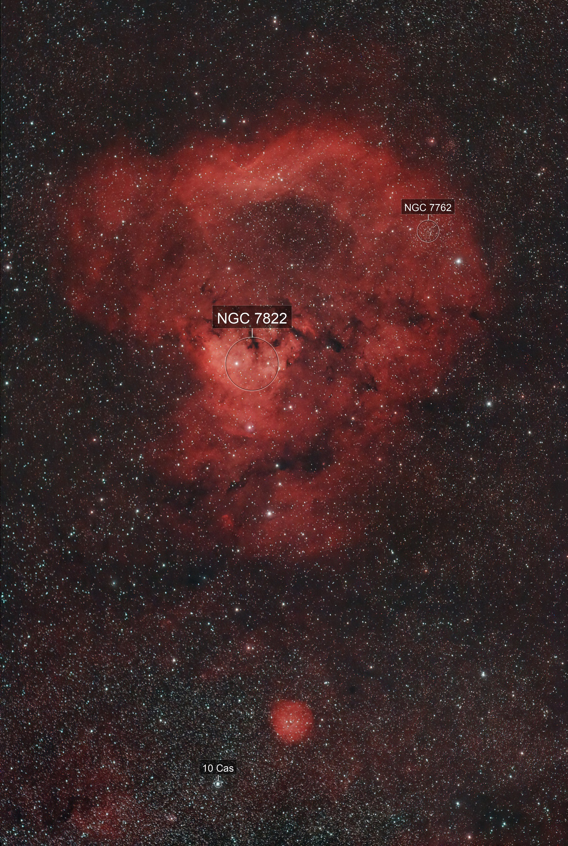 NGC 7822-CED 214 Red Skull Nebula or The Question Mark Nebula