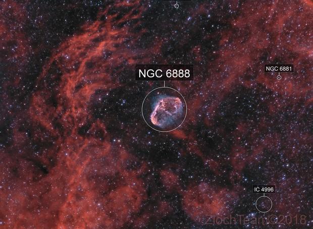 NGC6888 - La nebuleuse du croissant