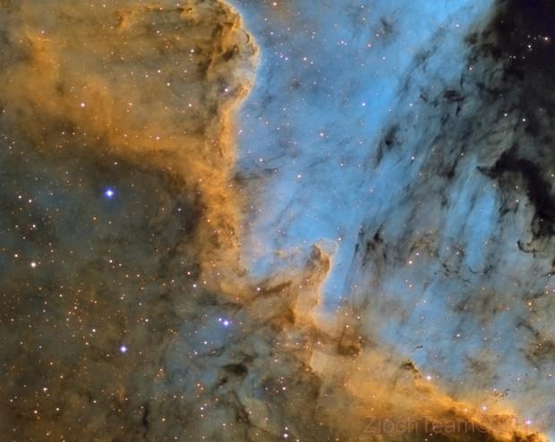Le mur de North America NGC7000