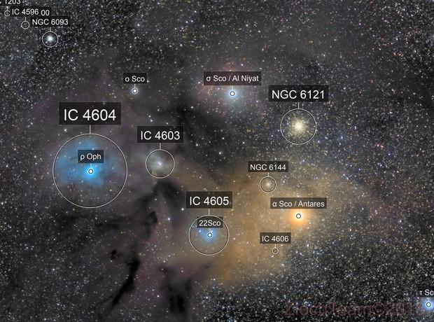 complexe Rho ophiuchus autour d'Antarès