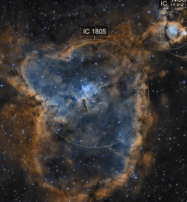 IC1805 - La nebuleuse du coeur