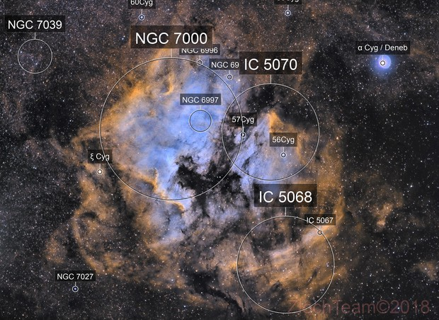 NGC7000 - IC5070 - North America et le Pelican