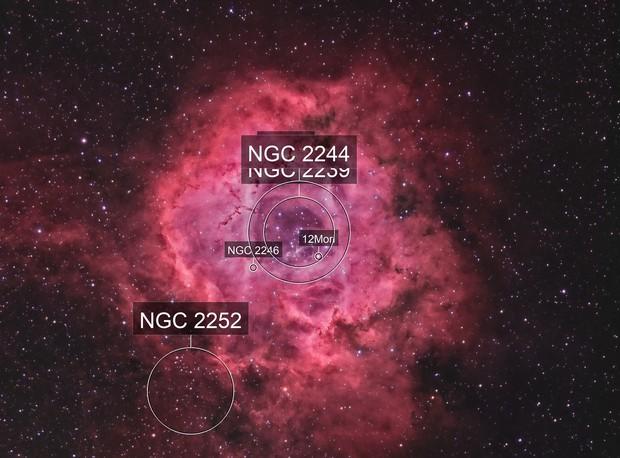 NGC2237 - La nébuleuse de la Rosette