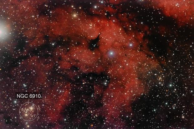 Región de Sadr: IC1318 y NGC6910
