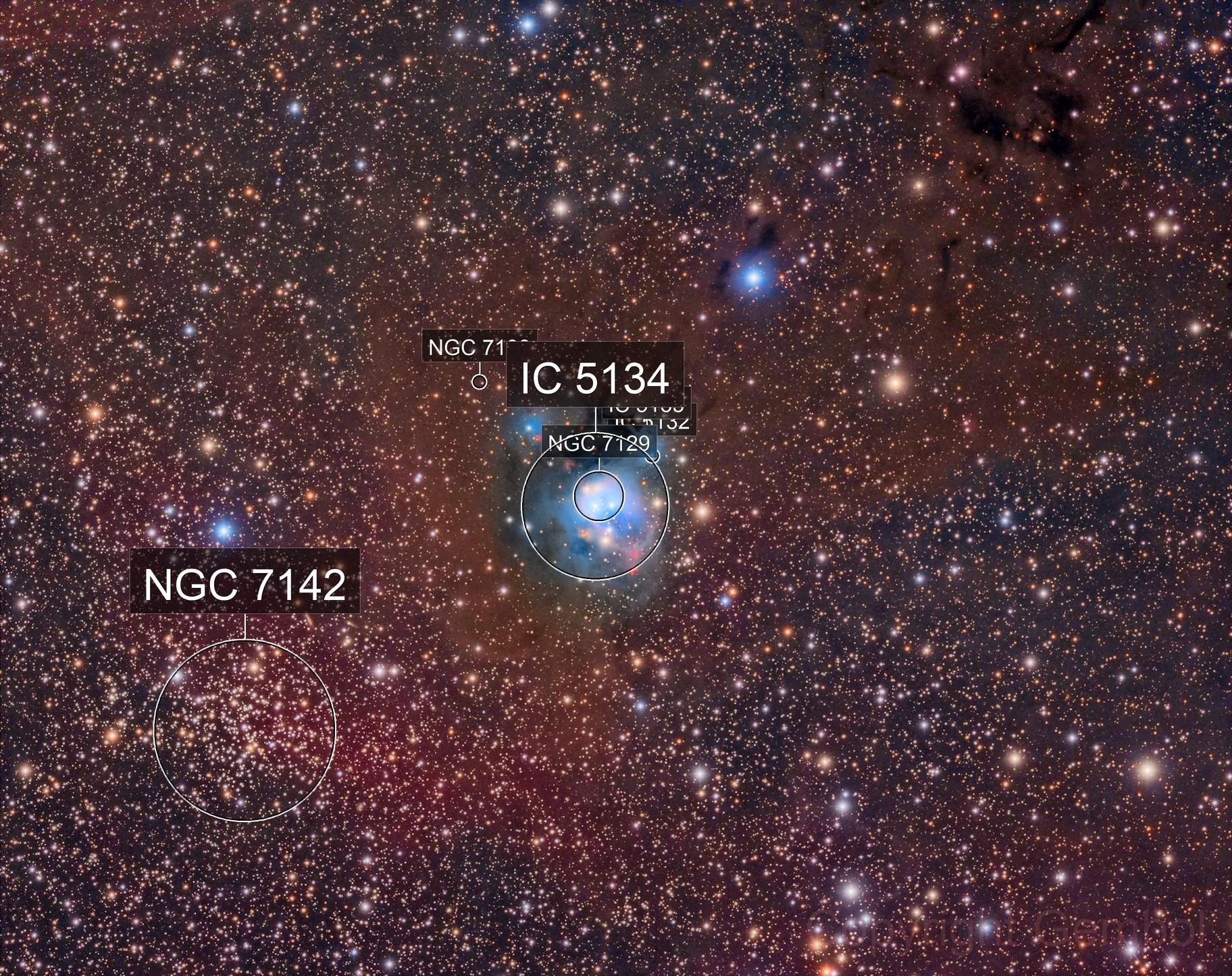 NGC7129 and NGC7142