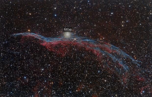 NGC6960: Nebulosa del Velo (parte oeste)