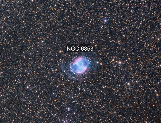 M27 (Dumbbell Nebula) LRGB + Ha-OIII