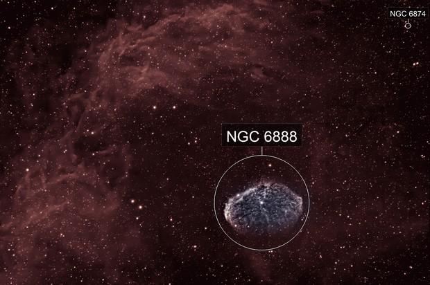 Crescent Nebula in narrowband
