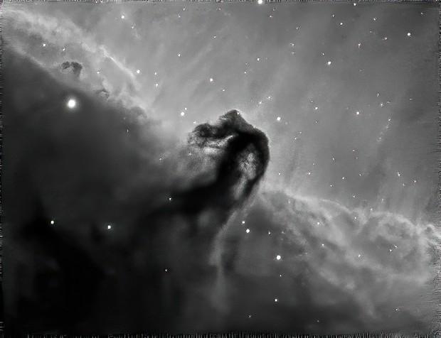 Horsehead Nebula in Ha (cropped)