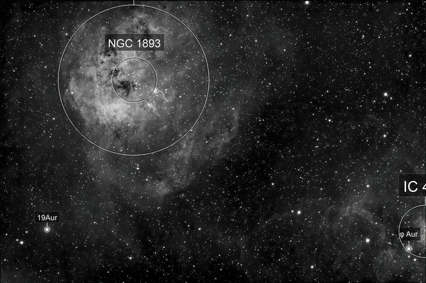 Tadpole Nebula in Ha
