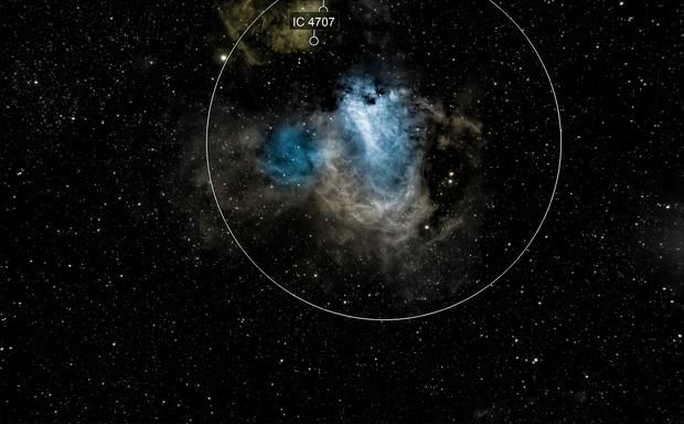 Swan nebula in narrowband