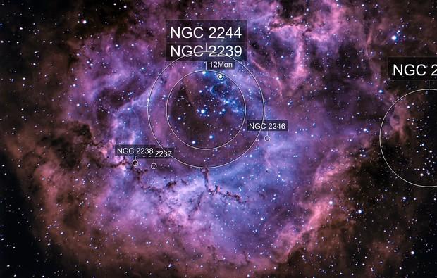 Rosette nebula in bi-color narrowband- Ha and O3
