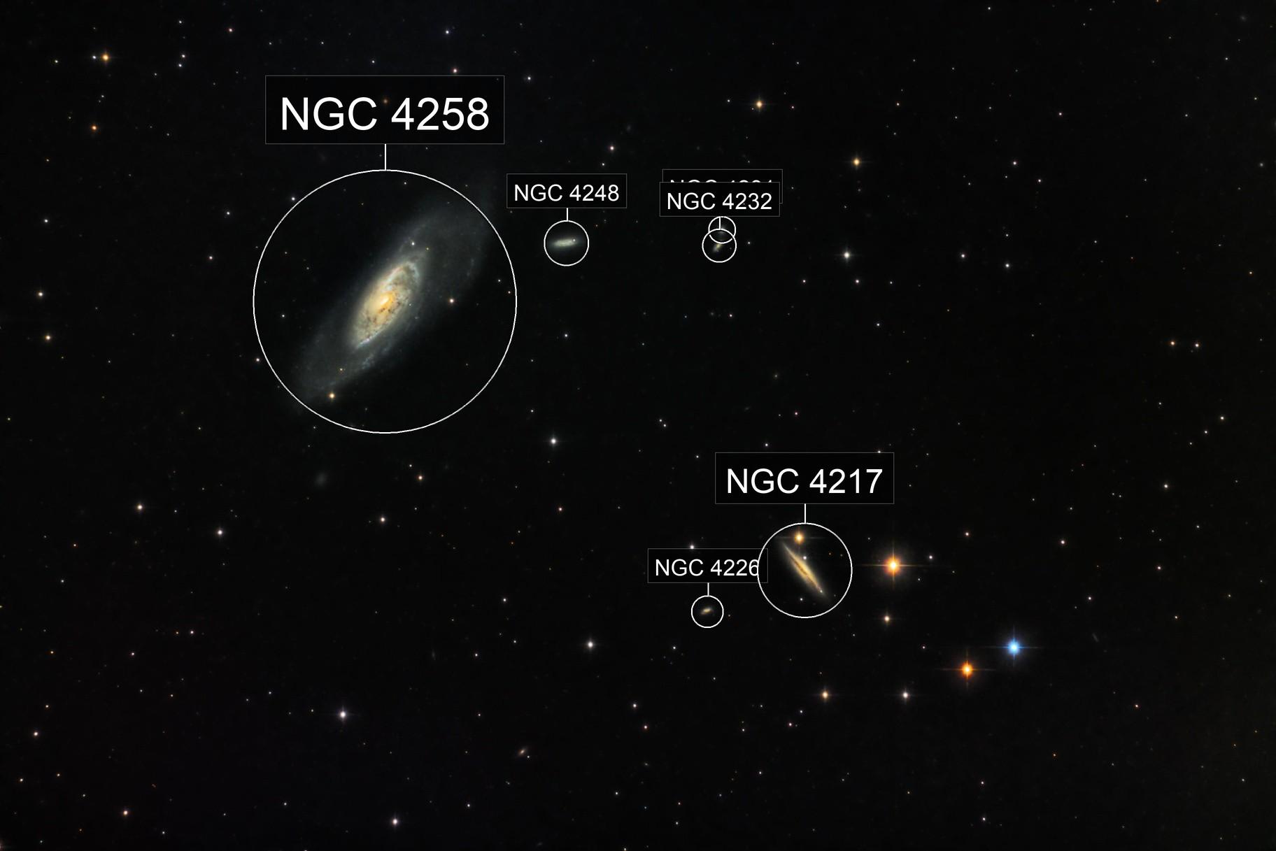 M106 under a bright moon