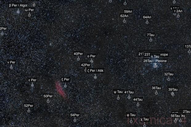 NGC-1499 California Nebula & M-45 Pleiades