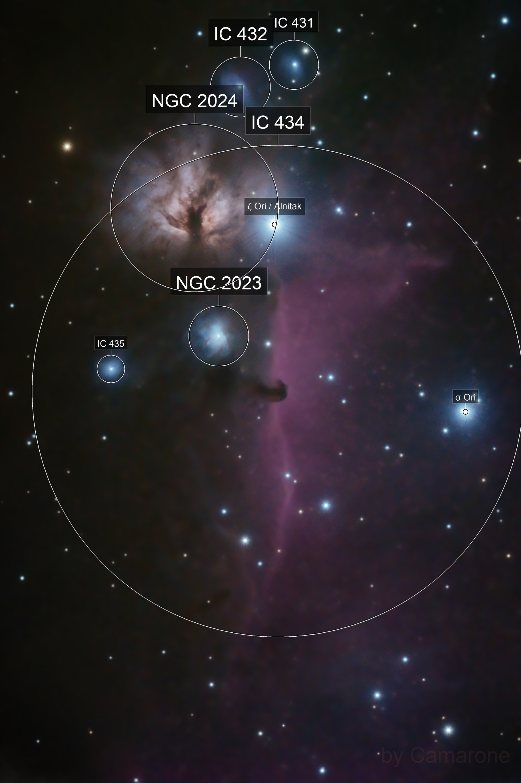 IC 434 & NGC  2024, Horsehead  Nebula & The Flame Nebula