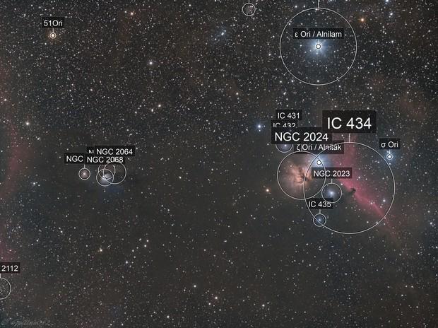 De M78 a IC434