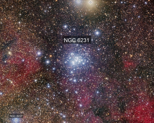 NGC 6231 - A Colorful Open Cluster