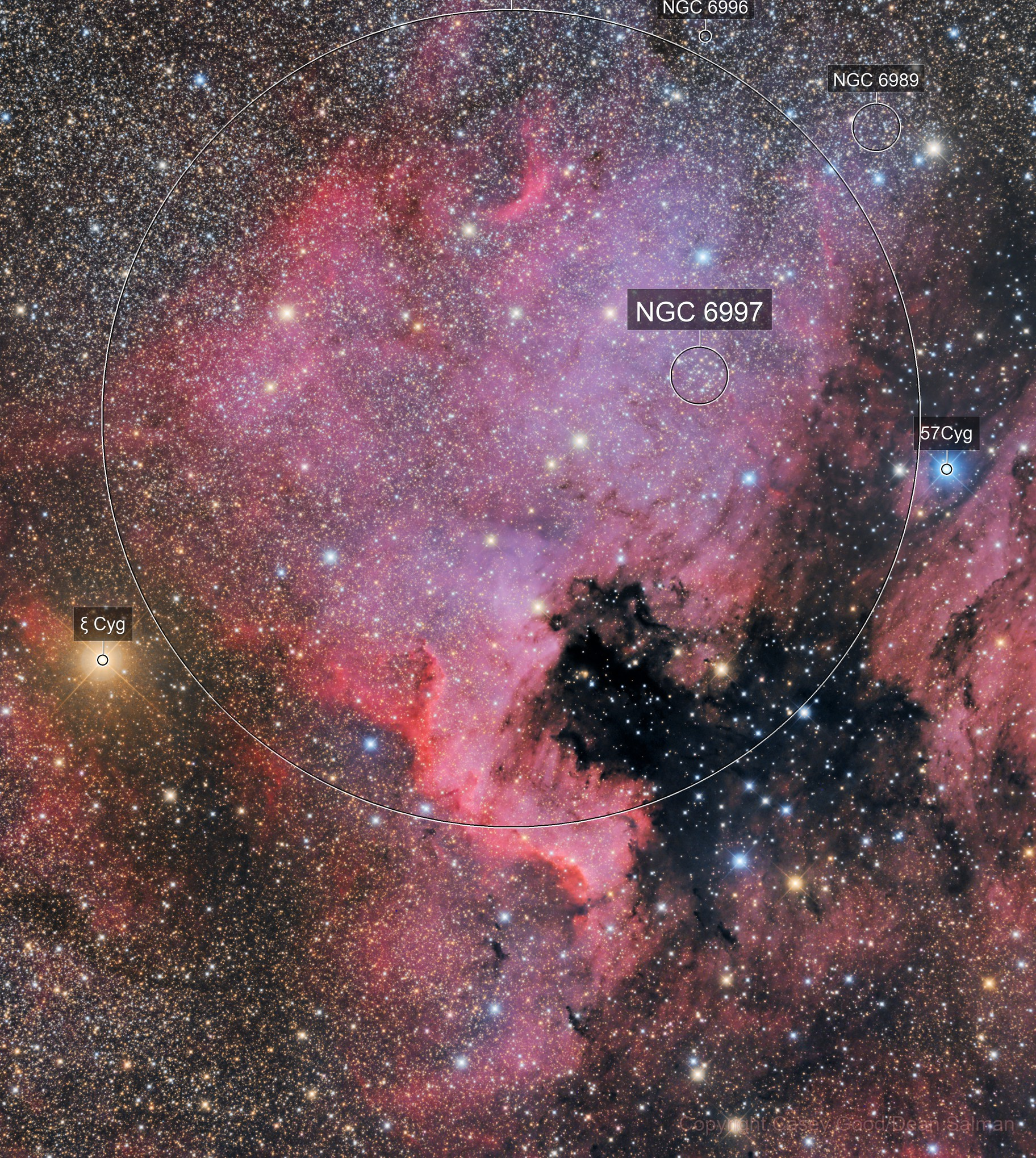 NGC 7000 RGB 2 Panel Mosaic