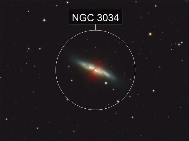 Messier 82 at Easter full moon 2019