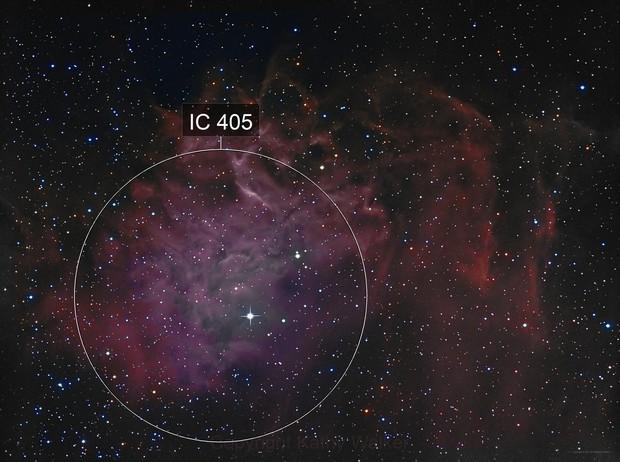 IC405, Flaming Star Nebula