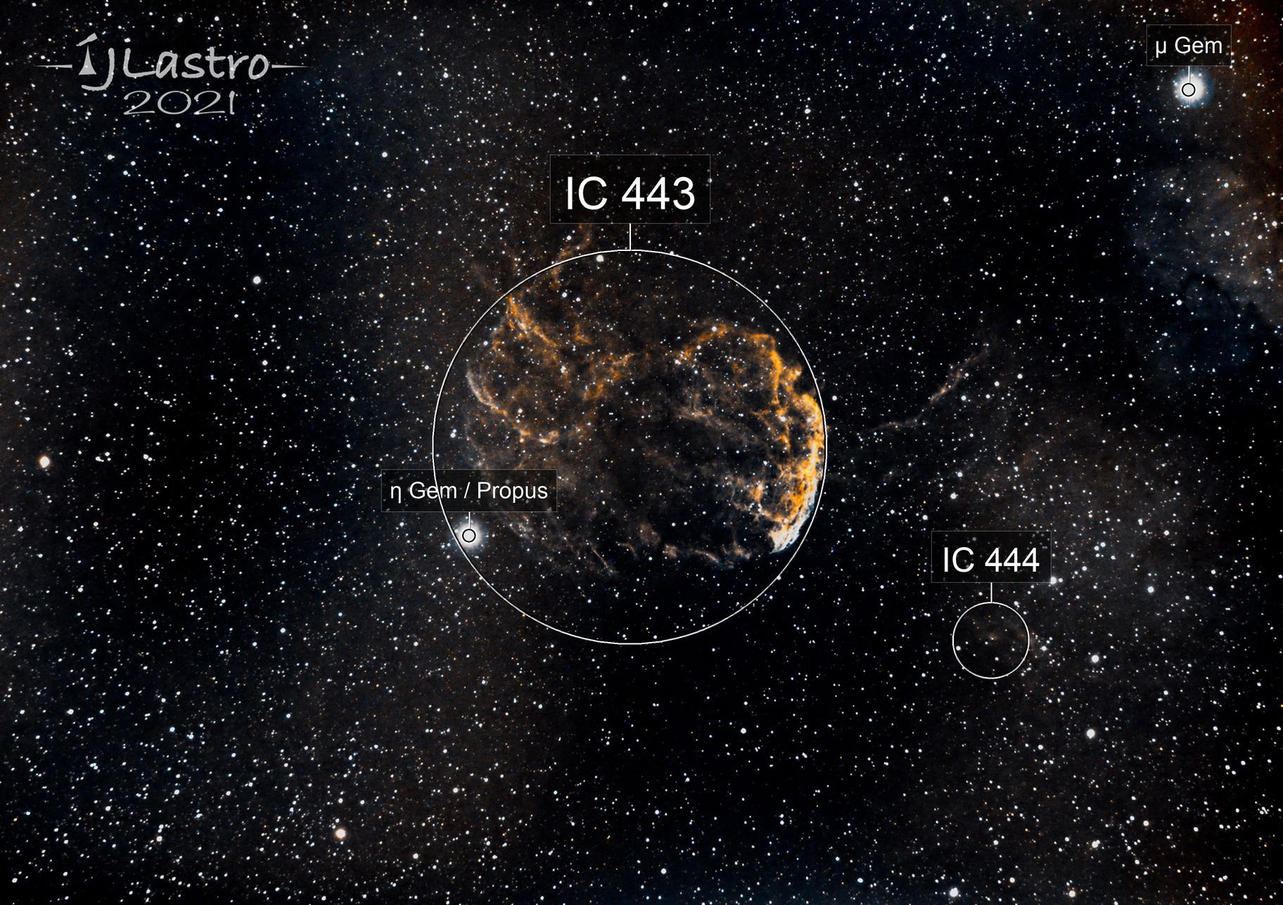 IC443  La nébuleuse de la méduse