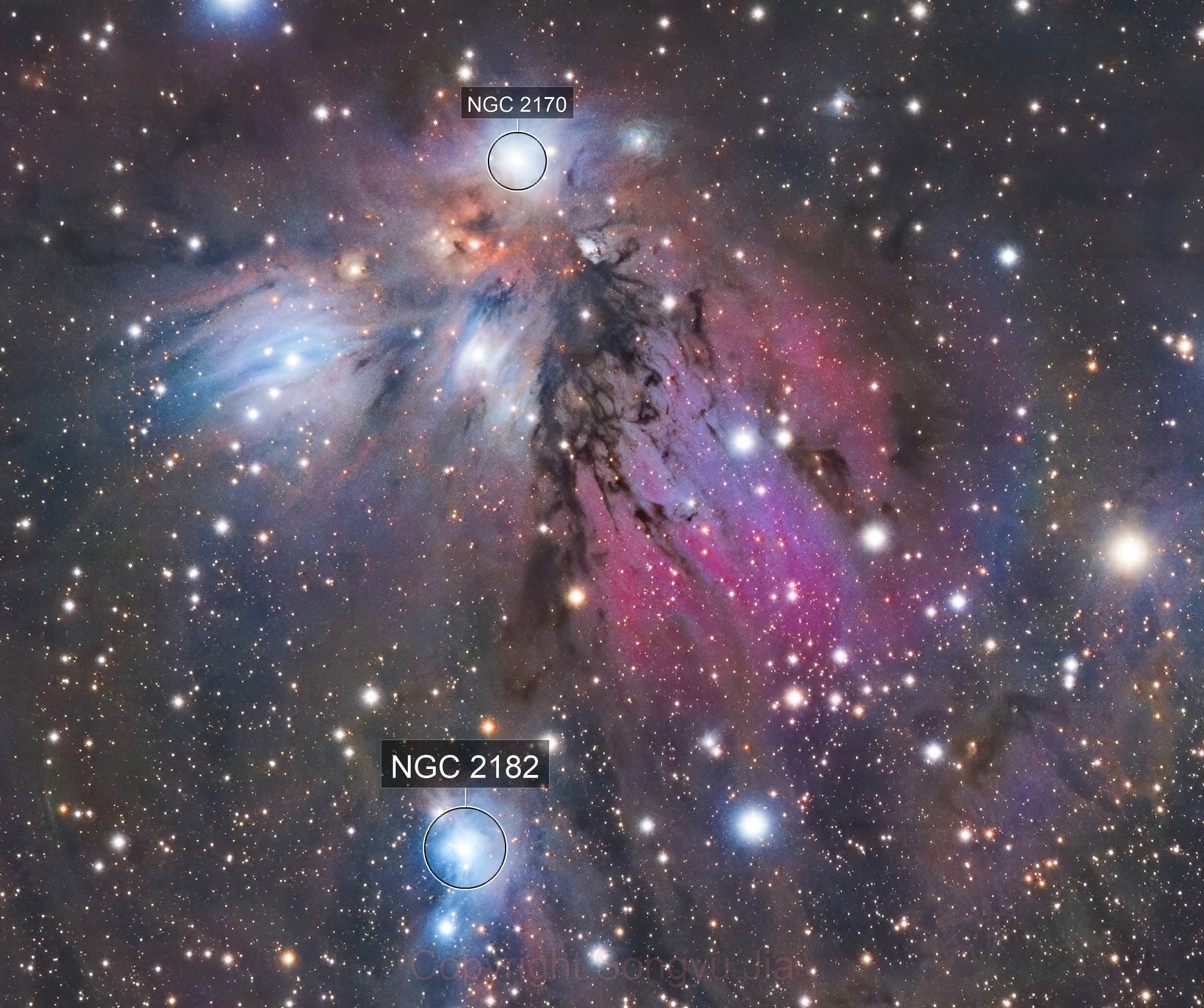 NGC2170 RGB Preview
