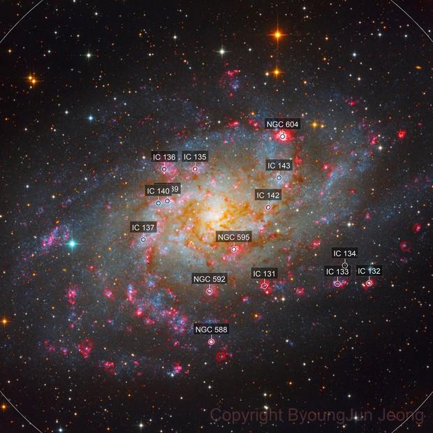 M33 LRGB Ha enhanced