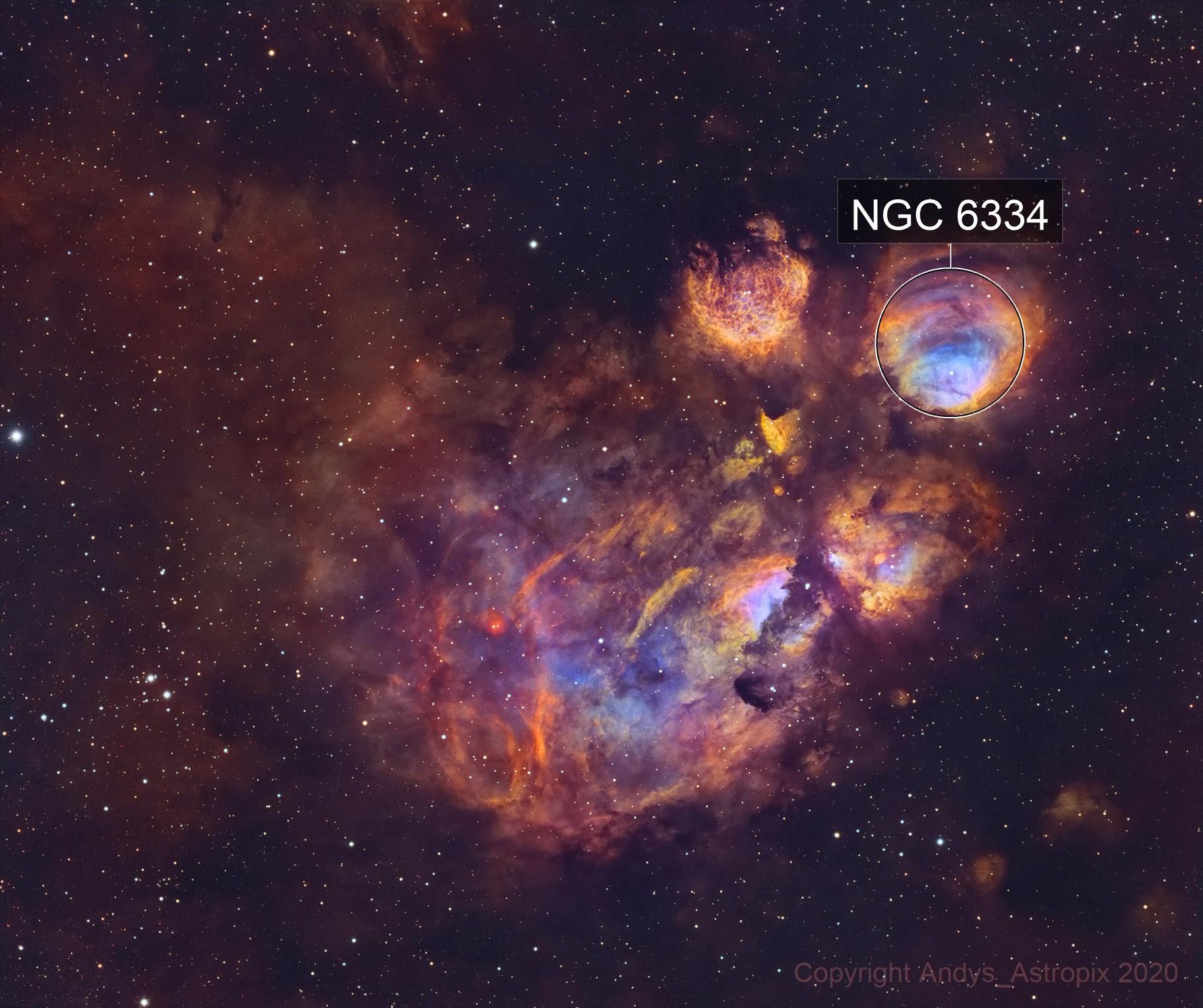 Nine Lives! NGC 6334 returns