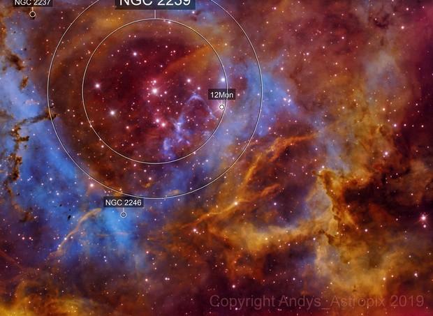 Rosette in Narrowband NGC 2237