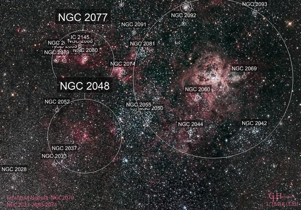 Tarantula Nebula and Surrounding Area