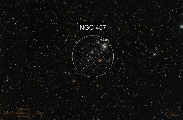 NGC457 Owl Cluster / E.T. Cluster