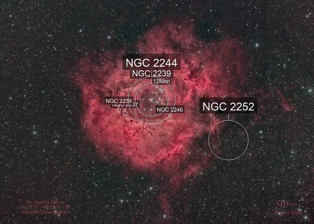 Rosette Nebula - SH2-275 - NGC2237 - C9