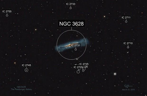 NGC3628 - The Hamburger Galaxy