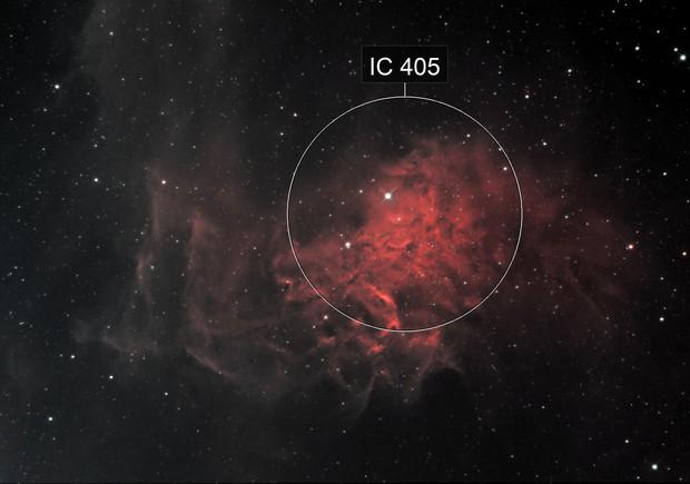 The Flaming Star Nebula, IC 405, SH 2-229, Caldwell 31