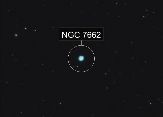 The Blue Snowball nebula, Caldwell 22, NGC 7662