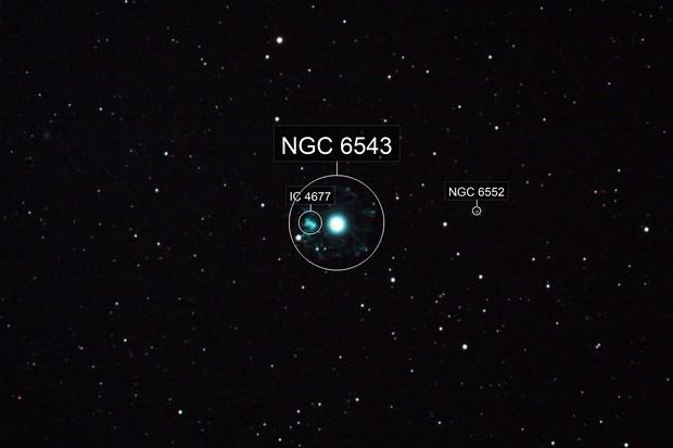 The Cats Eye Nebula, NGC 6543, Caldwell 6