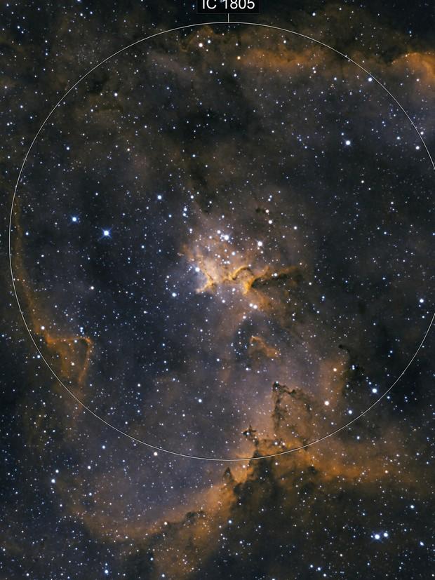 IC1805, The heart of the heart nebula