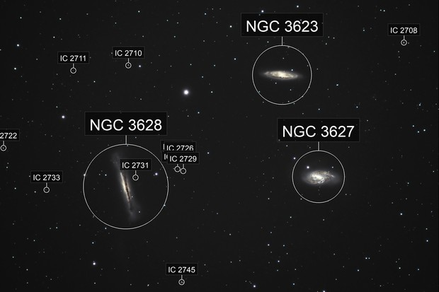 The Leo Galaxy Triplet, M65, M66 and NGC 3628
