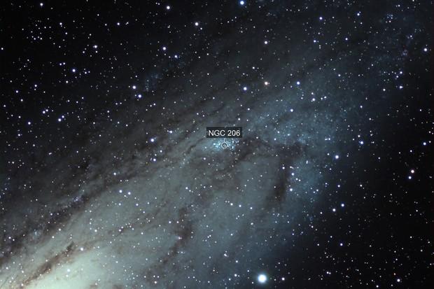 Star Cloud within Andromeda Galaxy, NGC 206