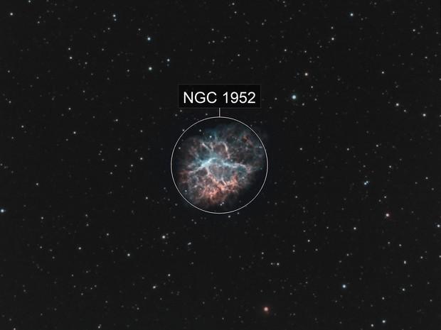 The Crab Nebula, M1, NGC 1952, Taurus A