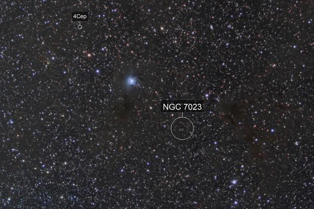 NGC 7023, LBN 468, 475, 483 and VdB 141