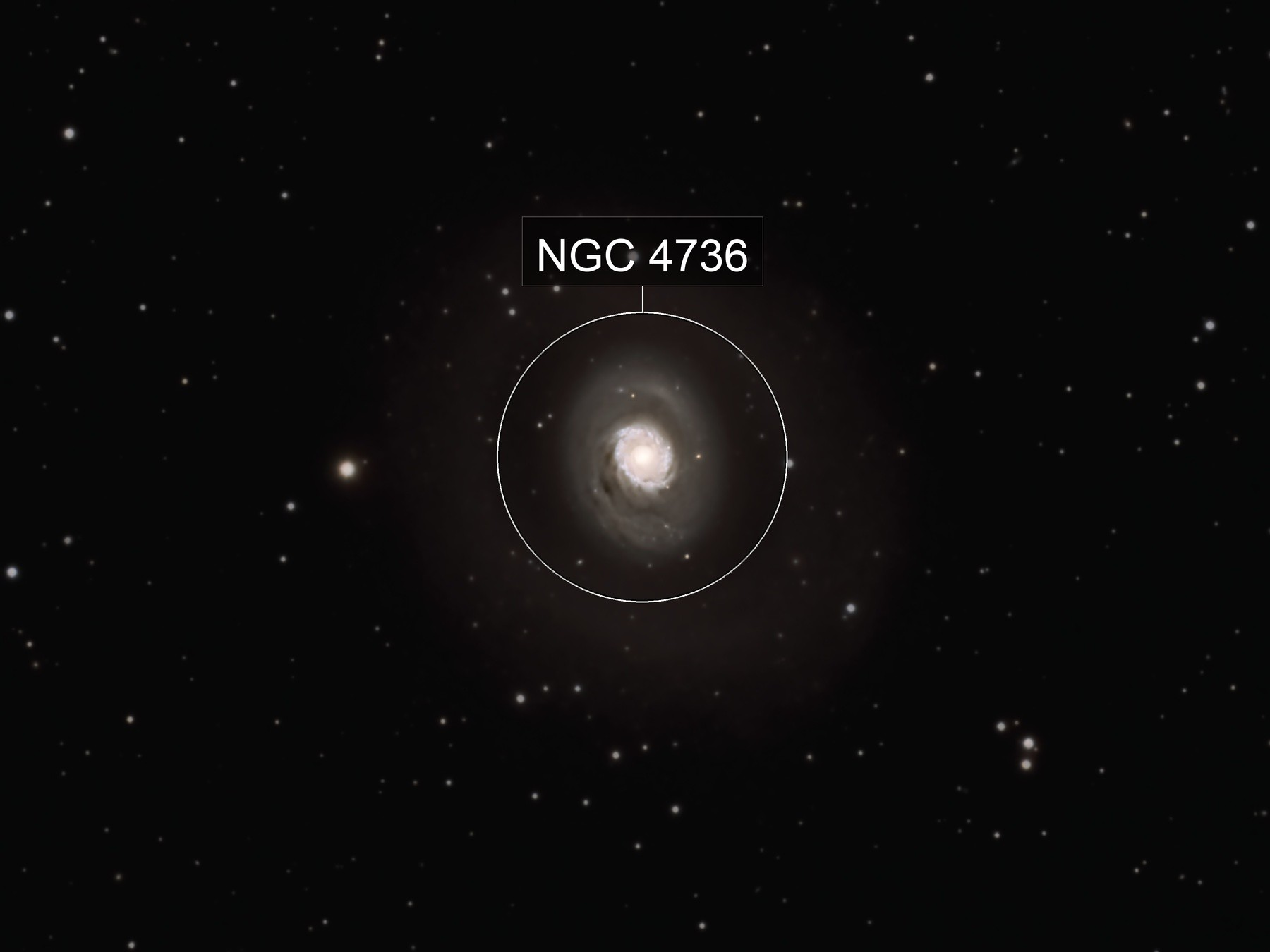 M94, The two-ringed galaxy in Canes Venatici
