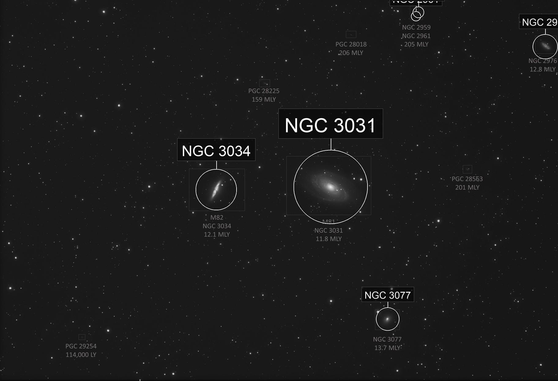 M81-M82 High Resolution, Wide Field
