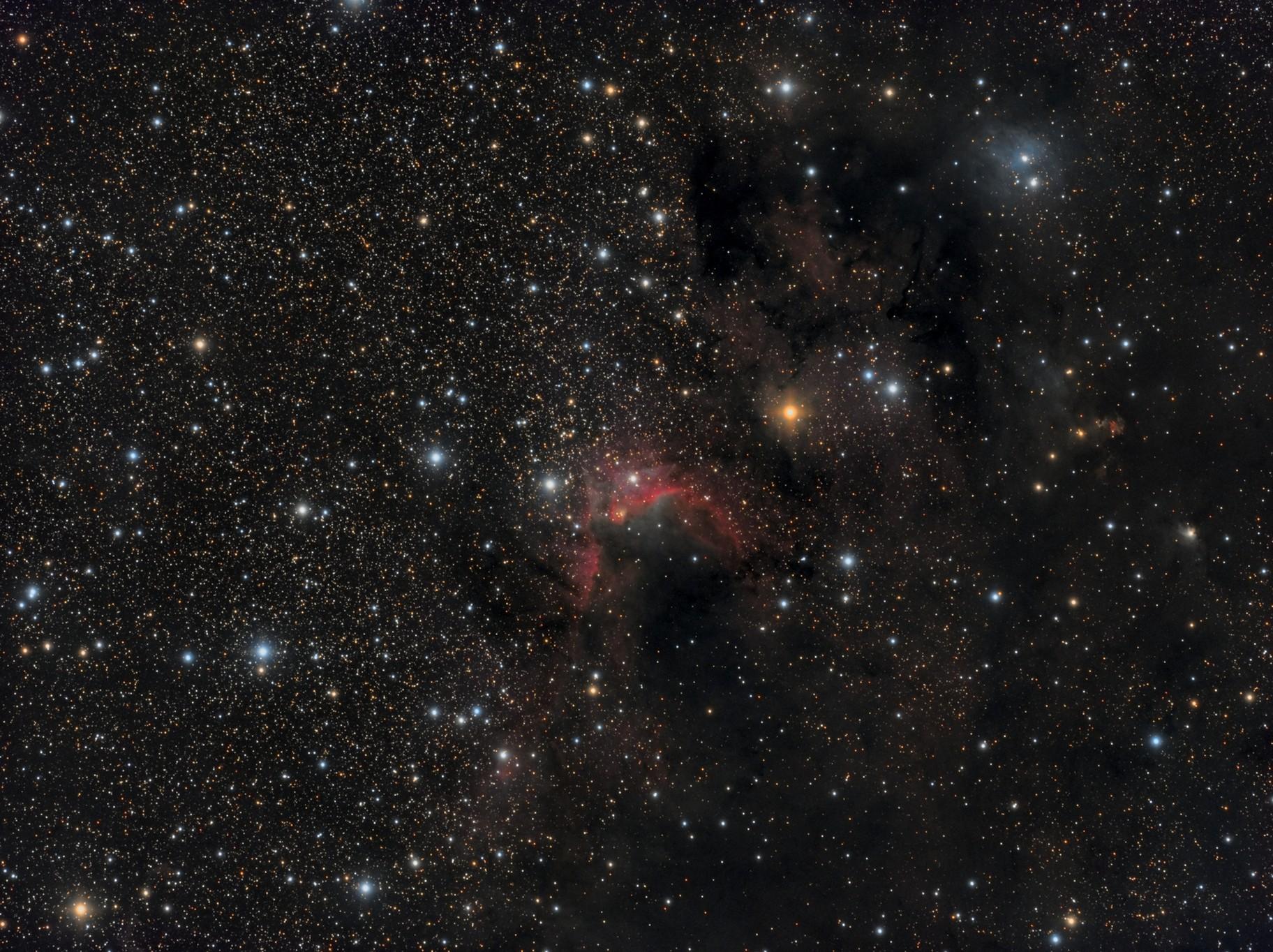 Sh2-155 Cave Nebula region