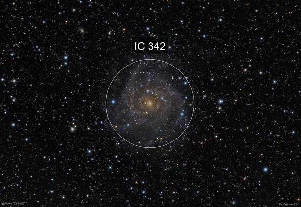 """IC 342 """"hidden"""" galaxy"""