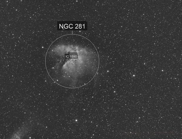 NGC 281 Pacman Nebula-Ha-Meade 80 ED triplet-Orion flattener-ASI 1600 MM-Pro