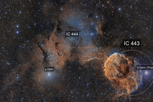 IC 443 and 444 - The Jelly Fish (2 Pane)