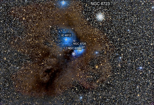 NGC 6726, 6723, and friends