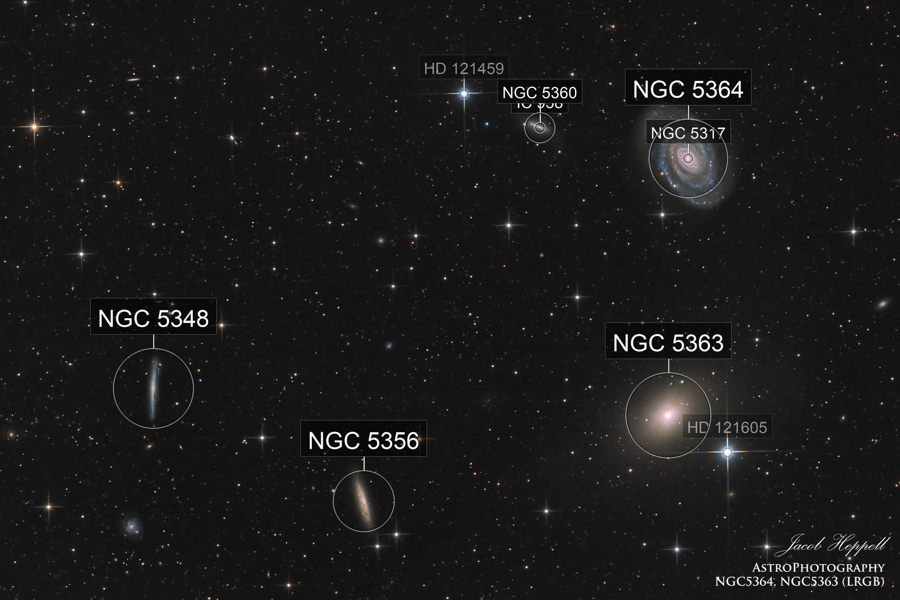 NGC5364, NGC5363, NGC5356, NGC5348