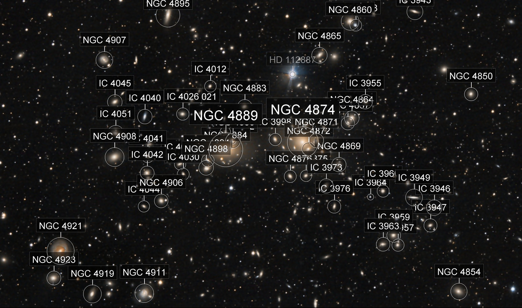 Abell 1656 Coma Galaxy Cluster
